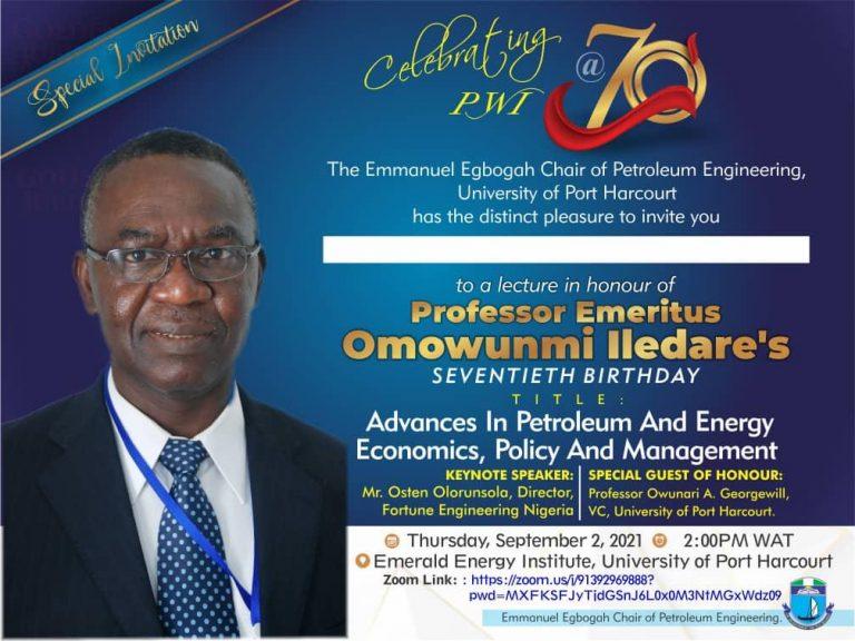 An apostle of PIB, Iledare turns 70